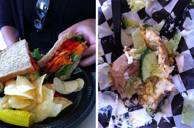 Potato Valley Cafe Sandwich and Potato