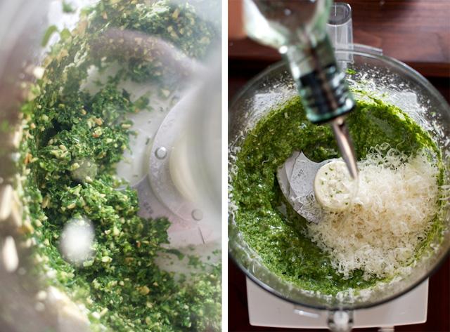 Mixing Pesto