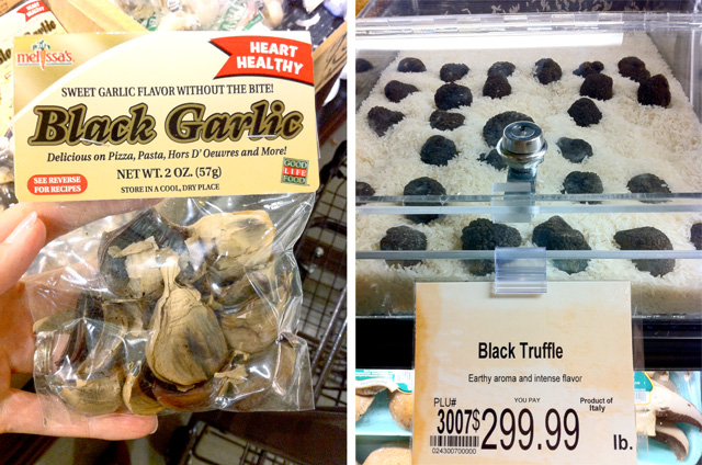 Wegmans Black Garlic and Black Truffles