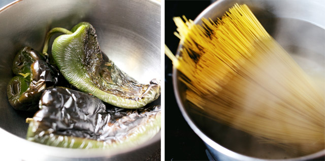 Poblano Peppers and Pasta