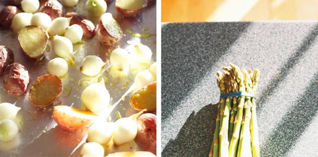 Potatoes, Onions, Asparagus