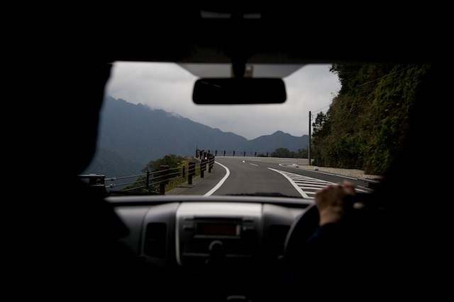 driving on yakushima