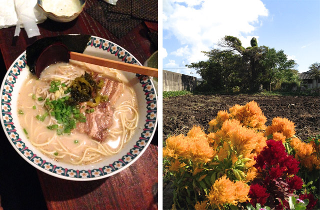 ramen and flowers