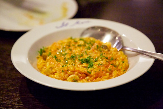 crab risotto at Il Mare