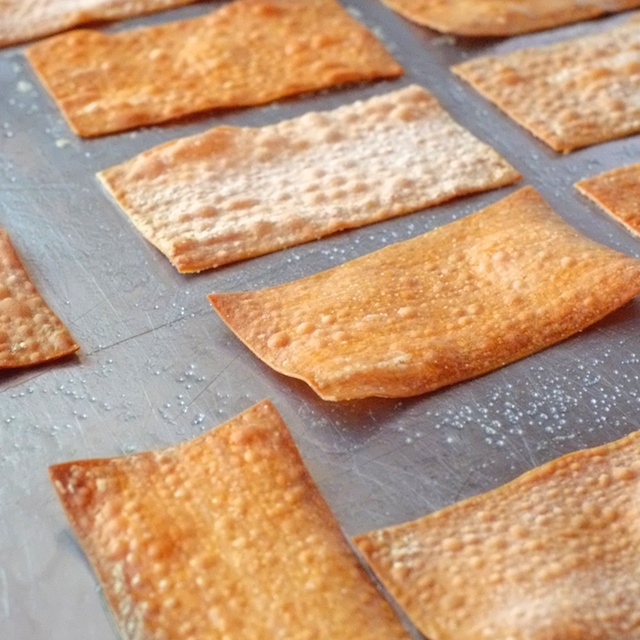baked won ton strips