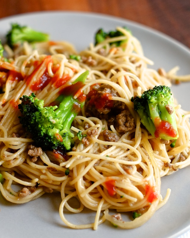 One Pot Beef and Broccoli Noodles