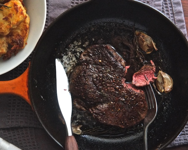 Pan-Seared Butter-Basted Steak | Sweet Salty Tart