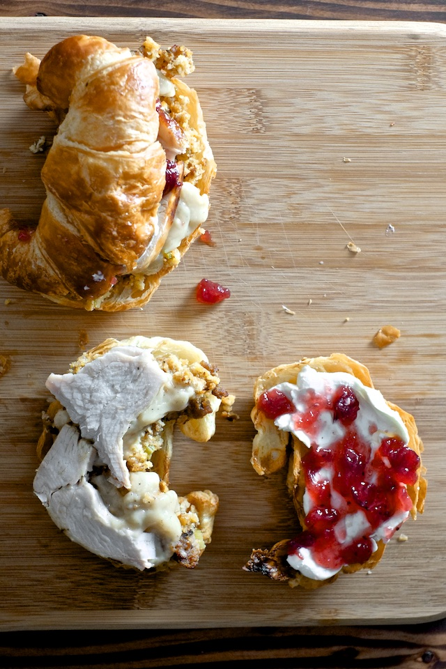 Croissant and Cream Cheese: Thanksgiving Sandwich Showdown