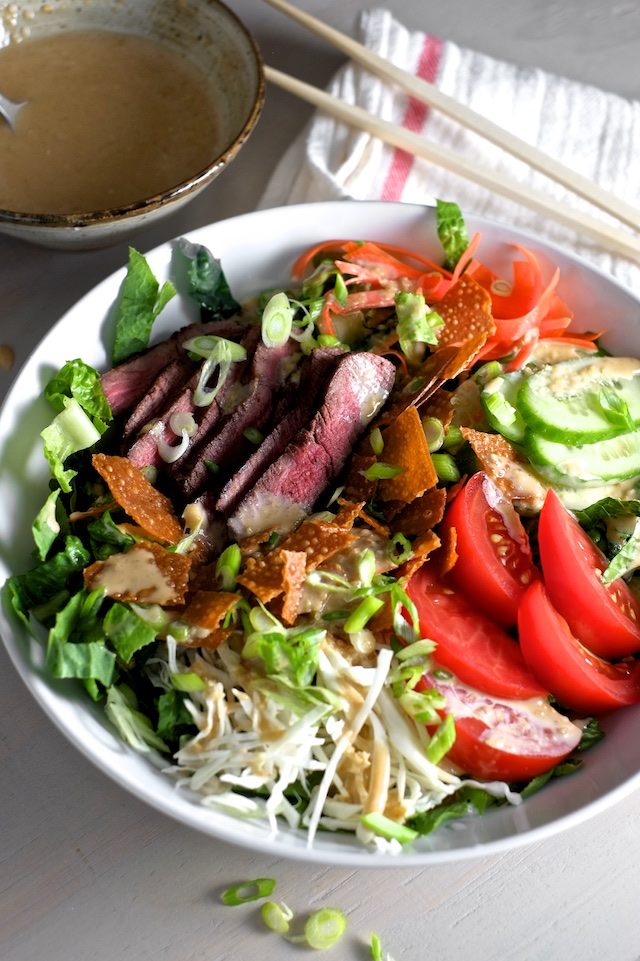 Steak Salad With Creamy Sesame Dressing