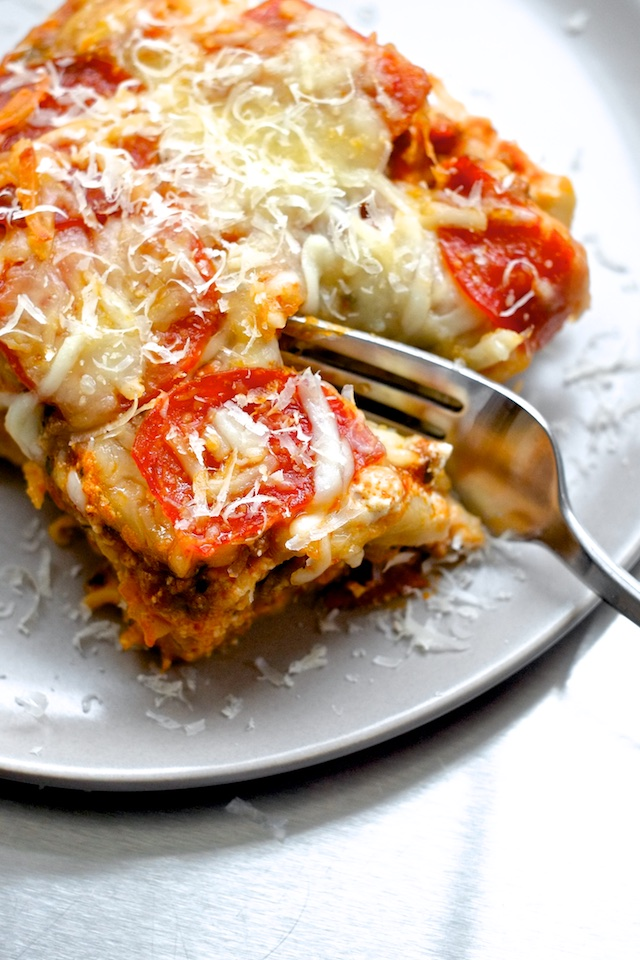 Pepperoni Lasagna