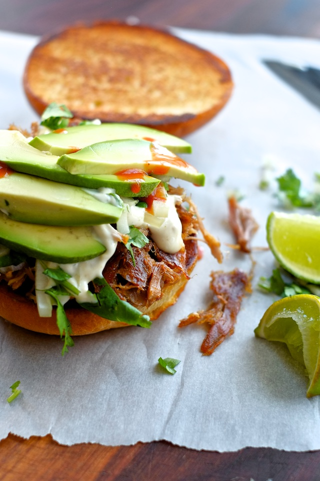 Slow-Cooker Carnitas Torta